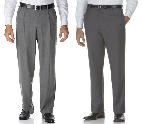 pleated or flat front suit pants - Pi Pants